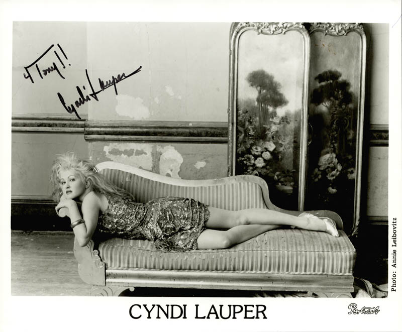 Image 1 for Cyndi Lauper - Inscribed Printed Photograph Signed In Ink - HFSID 251620