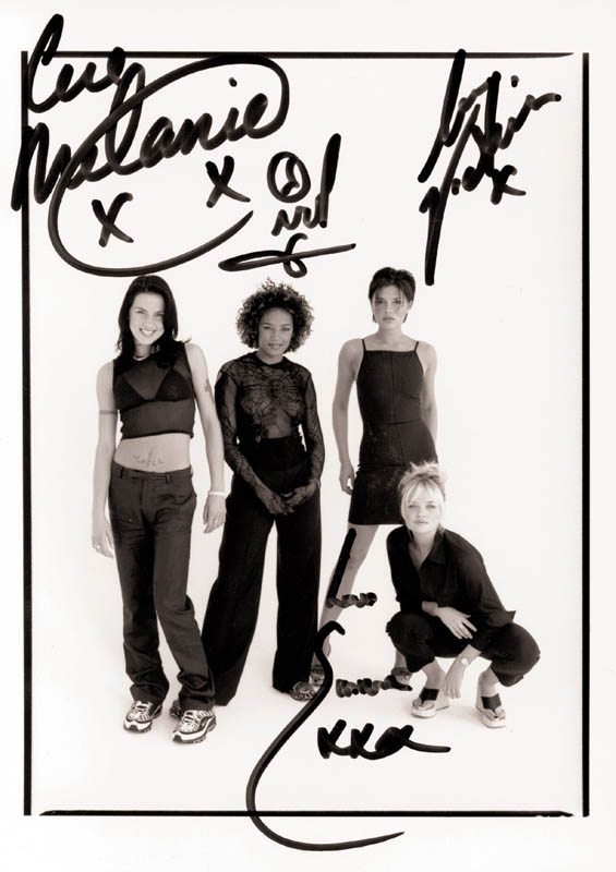 Image 1 for The Spice Girls - Autographed Signed Photograph with co-signers - HFSID 251843