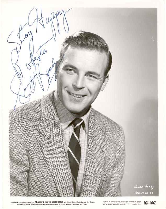 Image 1 for Scott Brady - Autographed Inscribed Photograph - HFSID 251855