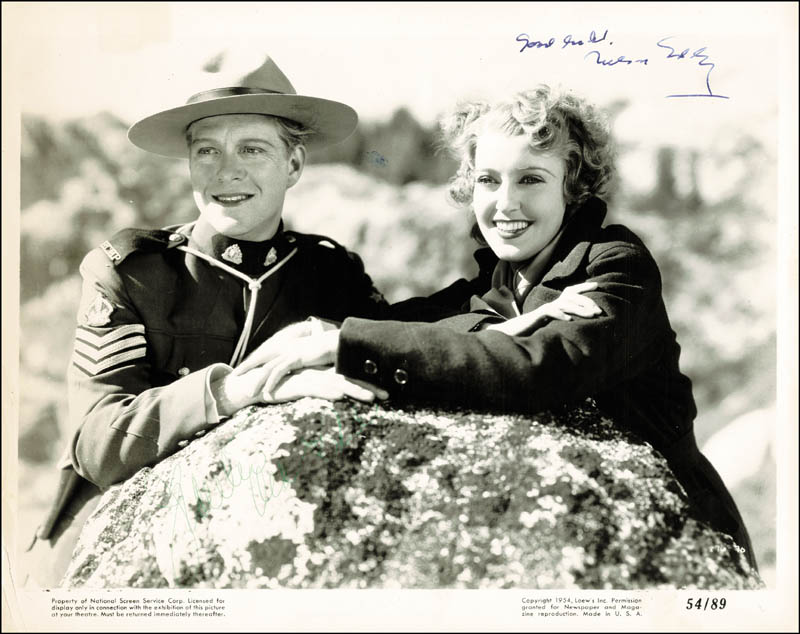 Image 1 for Nelson Eddy - Autographed Signed Photograph co-signed by: Jeanette Macdonald - HFSID 251901