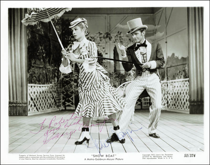 Image 1 for Show Boat Movie Cast - Autographed Inscribed Photograph co-signed by: Gower Champion, Marge Champion - HFSID 251931