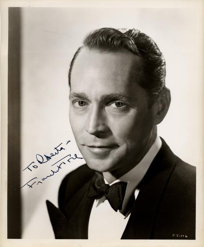 Image 1 for Franchot Tone - Autographed Inscribed Photograph - HFSID 251938