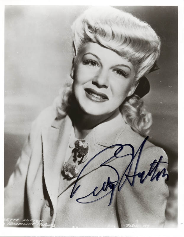 Image 1 for Betty Hutton - Autographed Signed Photograph - HFSID 251975