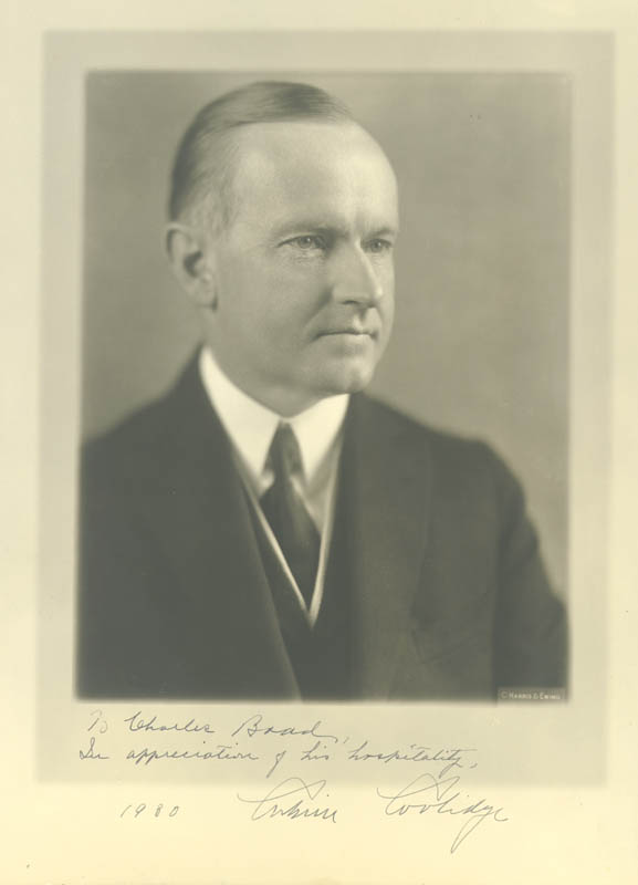 Image 1 for President Calvin Coolidge - Autographed Inscribed Photograph - HFSID 252129