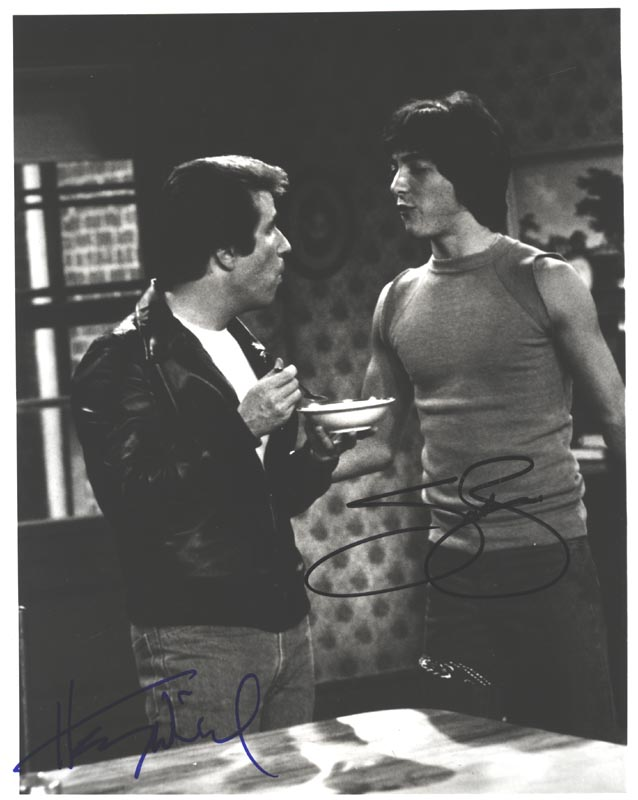 Image 1 for Happy Days TV Cast - Autographed Signed Photograph co-signed by: Scott Baio, Henry 'The Fonz' Winkler - HFSID 252363