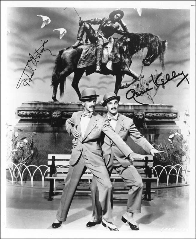 Image 1 for Ziegfeld Follies Movie Cast - Autographed Signed Photograph co-signed by: Gene Kelly, Fred Astaire - HFSID 252530