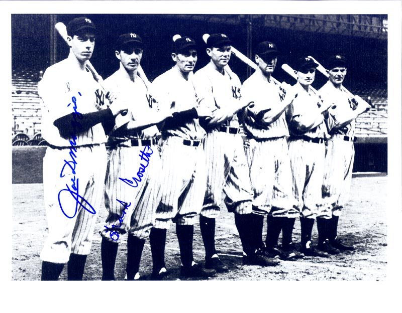 c1bfe3fca3dfe THE NEW YORK YANKEES - PHOTOGRAPH SIGNED CO-SIGNED BY  FRANK CROSETTI
