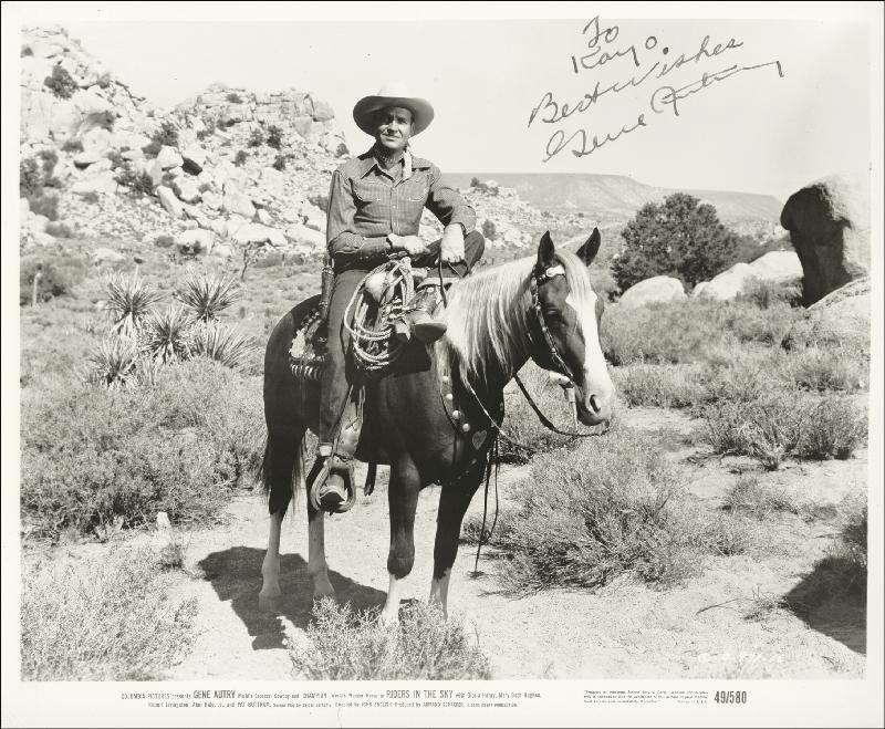 Image 1 for Gene Autry - Autographed Inscribed Photograph - HFSID 252666