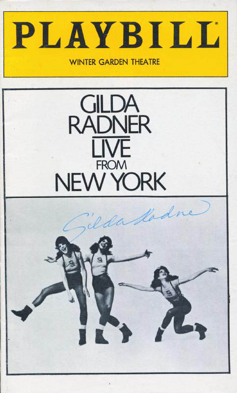 Image 1 for Gilda Radner - Show Bill Signed Circa 1979 - HFSID 252703