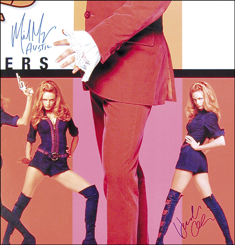 Image 1 for Austin Powers: The Spy Who Shagged Me Movie Cast - Autographed Signed Poster co-signed by: Mike Myers, Heather Graham - HFSID 252822