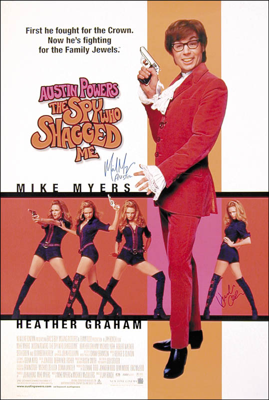 Image 3 for Austin Powers: The Spy Who Shagged Me Movie Cast - Autographed Signed Poster co-signed by: Mike Myers, Heather Graham - HFSID 252822