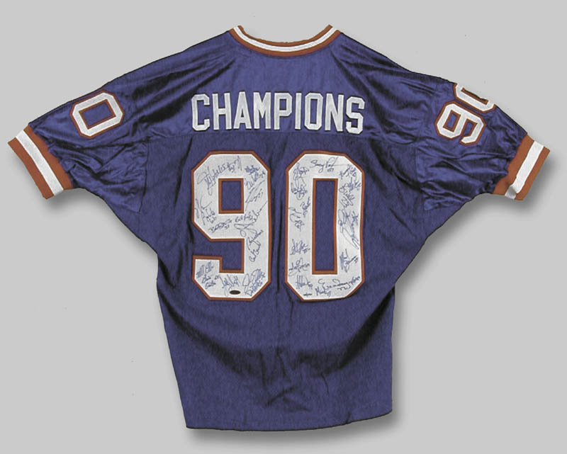 Image 1 for The New York Giants - Jersey Signed Circa 1990 with co-signers - HFSID 252878