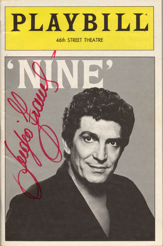 Image 1 for Sergio Franchi - Show Bill Signed Circa 1983 - HFSID 252932