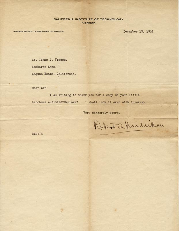 Image 1 for Robert A. Millikan - Typed Letter Signed 12/13/1929 - HFSID 253011