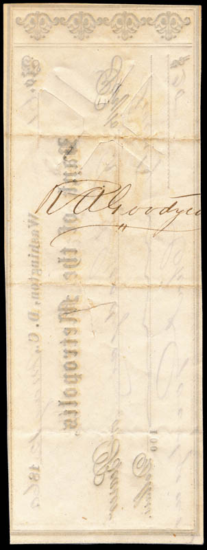 Image 3 for Charles Goodyear - Autographed Signed Check 05/12/1860 - HFSID 253060