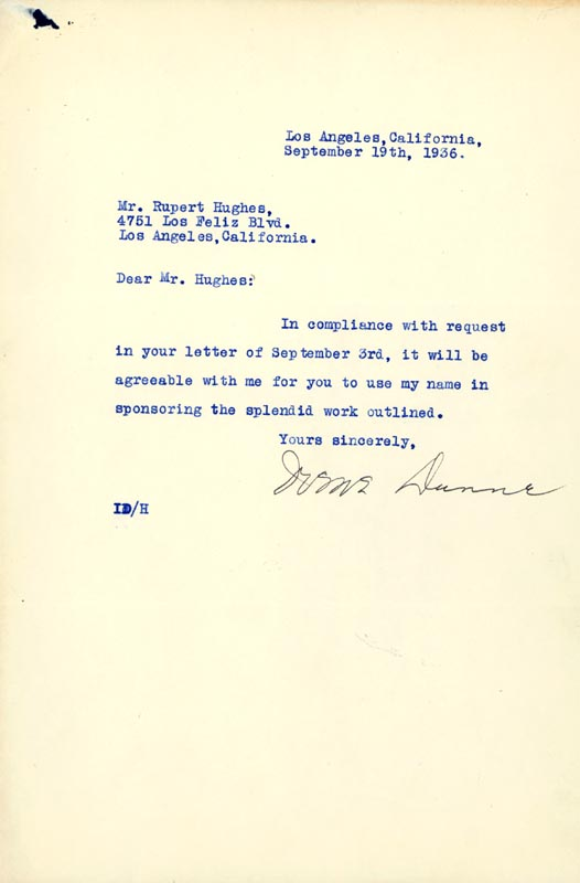Image 1 for Irene Dunne - Typed Letter Signed 09/19/1936 - HFSID 253147
