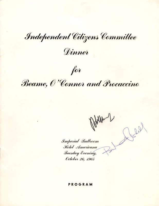 Image 1 for Robert F. Kennedy - Program Signed Circa 1965 co-signed by: Bertram L. Podell - HFSID 253379