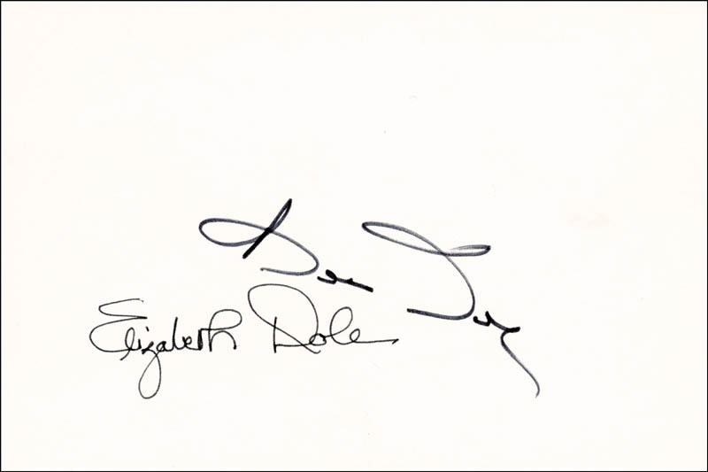 Image 1 for Robert J. 'Bob' Dole - Autograph co-signed by: Elizabeth H. Dole - HFSID 253462
