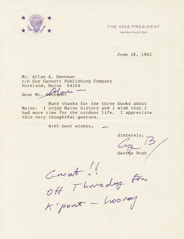 Image 1 for President George H.W. Bush - Typed Letter Signed 06/28/1982 - HFSID 253478