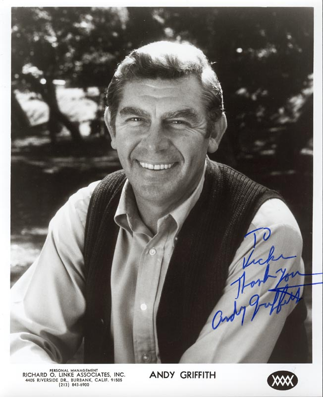 Image 1 for Andy Griffith - Autographed Inscribed Photograph - HFSID 25351