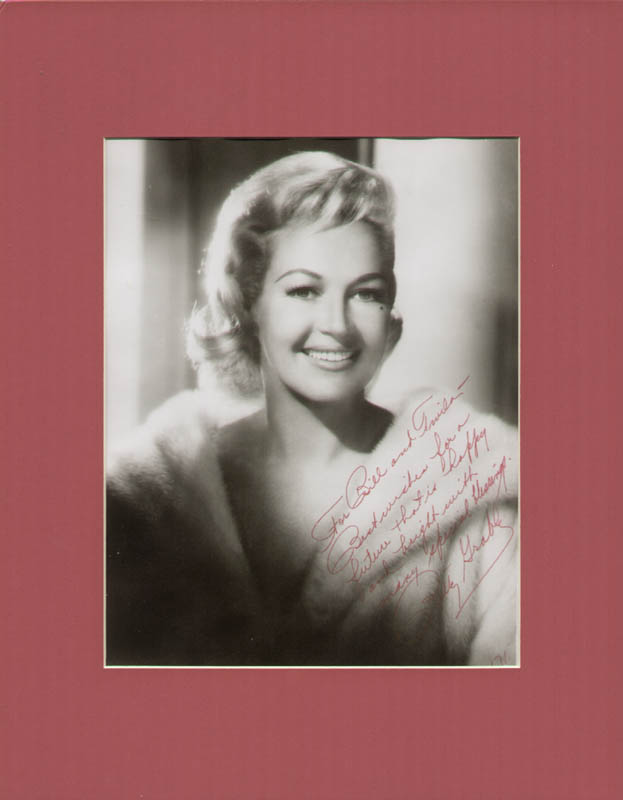 Image 1 for Betty Grable - Autographed Inscribed Photograph 1971 - HFSID 253542
