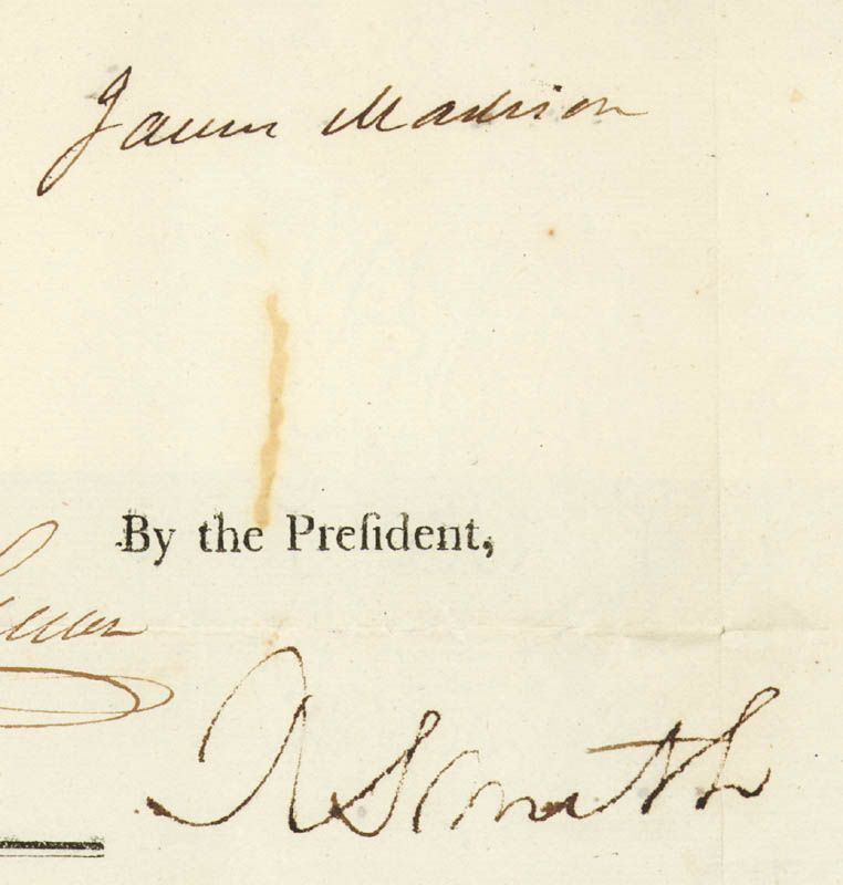 Image 1 for President James Madison - Four Language Ships Papers Signed 08/18/1809 co-signed by: Robert Smith (Politician) - HFSID 253553