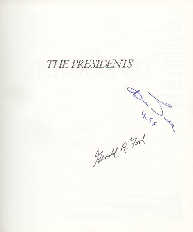 Image 1 for President Gerald R. Ford - Book Signed Circa 1990 co-signed by: Robert J. 'Bob' Dole - HFSID 253562