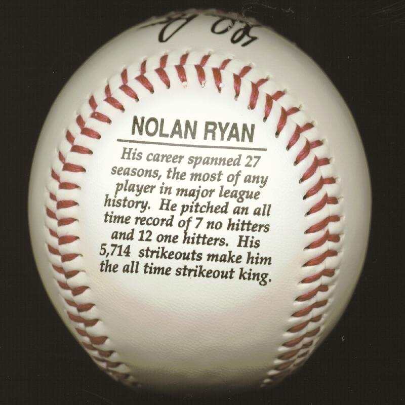 Image 4 for Nolan Ryan - Autographed Signed Photograph - HFSID 253648