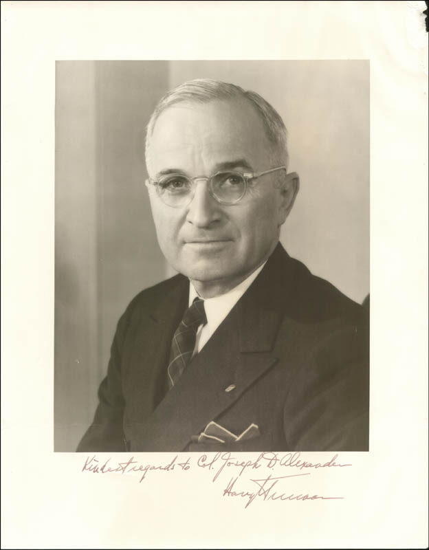 Image 1 for President Harry S Truman - Autographed Inscribed Photograph - HFSID 253652