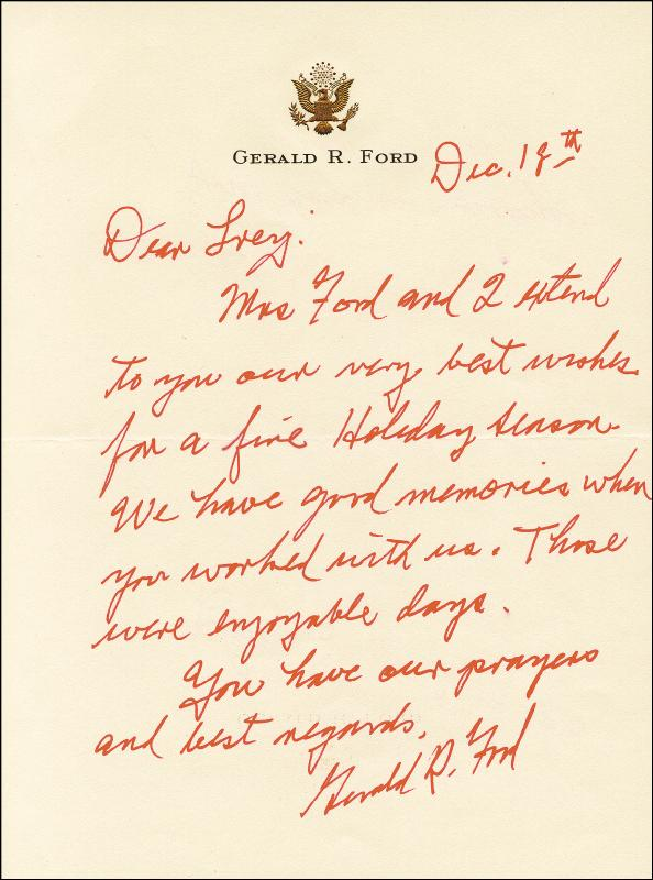 Image 1 for President Gerald R. Ford - Autograph Letter Signed 12/18 - HFSID 253666