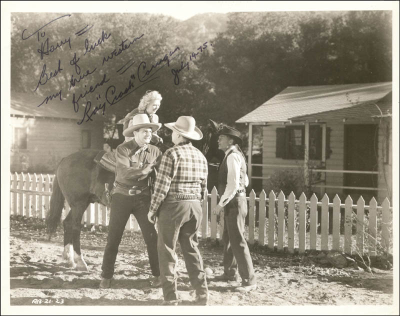Image 1 for Ray 'Crash' Corrigan - Autographed Signed Photograph 07/19/1975 - HFSID 253729