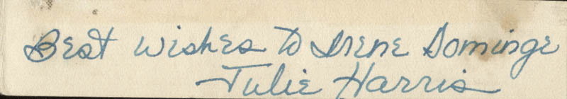Image 1 for Julie Harris - Autograph Note Signed - HFSID 25376