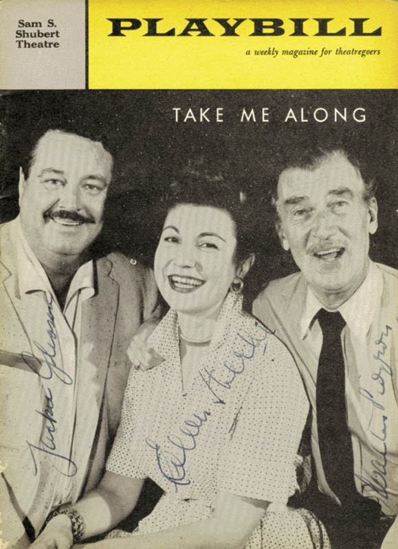 Image 1 for Take Me Along Broadway Cast - Play Signed Circa 1959 co-signed by: Eileen Herlie, Walter Pidgeon, Jackie 'The Great One' Gleason - HFSID 253783