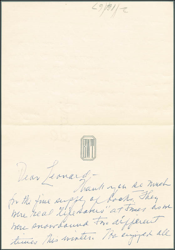 Image 3 for First Lady Bess W. Truman - Autograph Letter Signed Circa 1967 - HFSID 253881