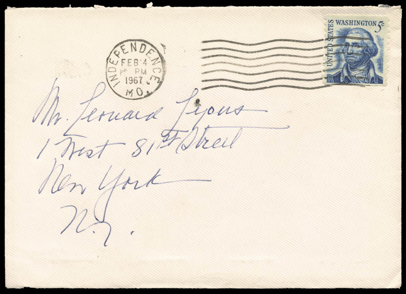 Image 4 for First Lady Bess W. Truman - Autograph Letter Signed Circa 1967 - HFSID 253881