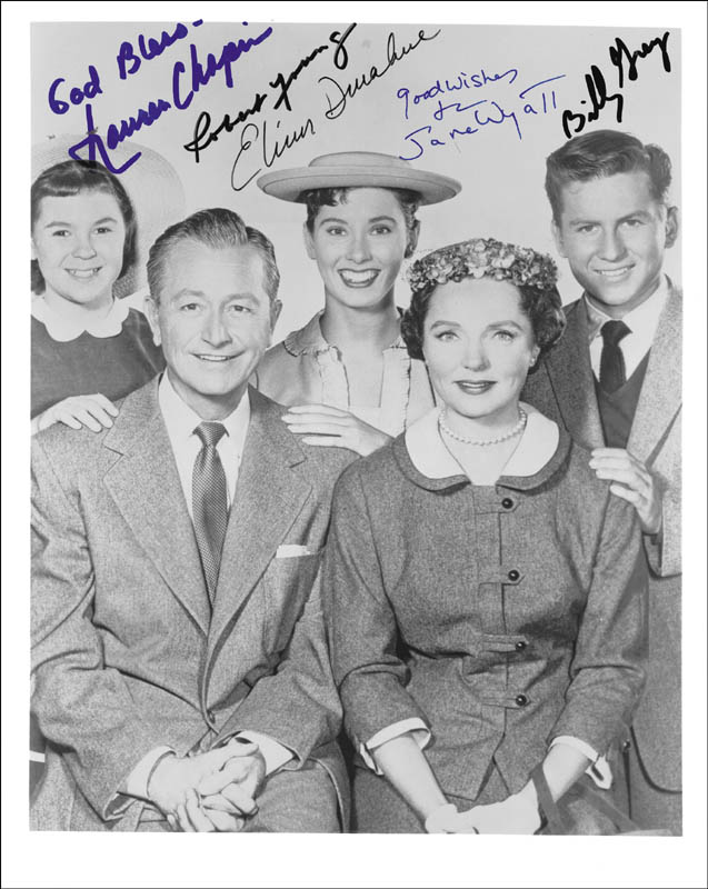Image 1 for Father Knows Best TV Cast - Autographed Signed Photograph co-signed by: Lauren Chapin, Elinor Donahue, Billy Gray, Robert Young, Jane Wyatt - HFSID 254043