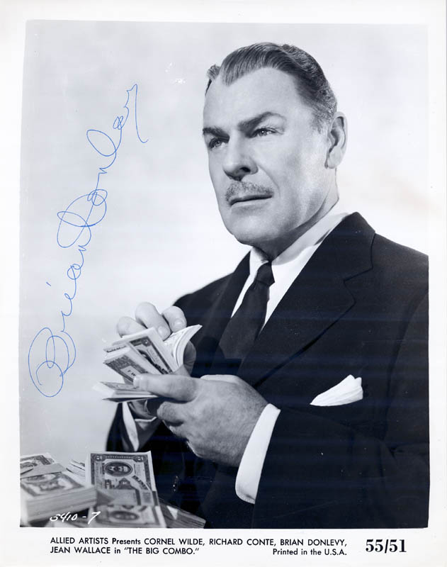 Image 1 for Brian Donlevy - Autographed Signed Photograph Circa 1960 - HFSID 254063