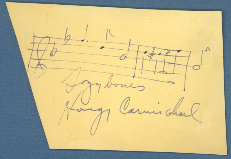 Image 1 for Hoagy Carmichael - Autograph Musical Quotation Signed co-signed by: Dorothy Lamour - HFSID 254068