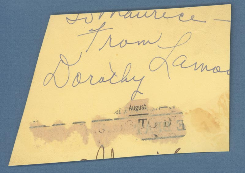 Image 4 for Hoagy Carmichael - Autograph Musical Quotation Signed co-signed by: Dorothy Lamour - HFSID 254068