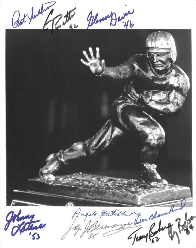 Image 1 for Heisman Trophy Winners - Autographed Signed Photograph with co-signers - HFSID 254079