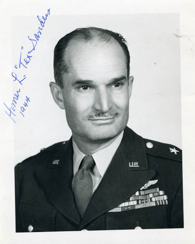 Image 1 for Major General Homer L. 'Tex' Sanders - Autographed Signed Photograph 1944 - HFSID 254118