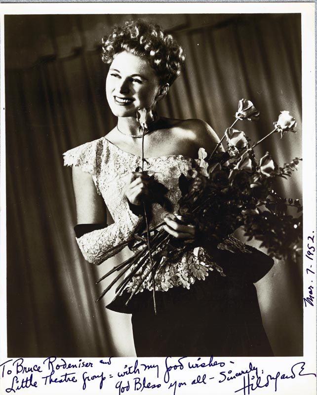 Image 1 for Hildegarde - Autographed Inscribed Photograph 03/07/1952 - HFSID 25415