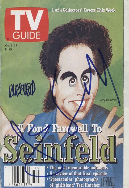 Image 1 for Jerry Seinfeld - Magazine Cover Signed co-signed by: Al Hirschfeld - HFSID 254174