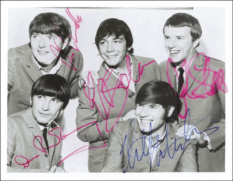 Image of: Guitar The Animals dave Rowberry The Animals bryan Npr The Animals Photograph Signed With Cosigners Autographs