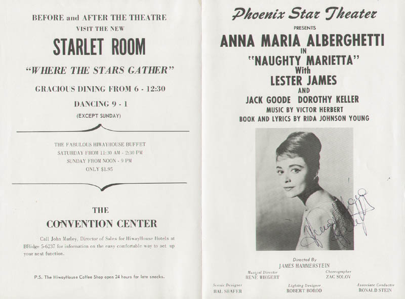 Image 1 for Anna Maria Alberghetti - Program Signed - HFSID 254272