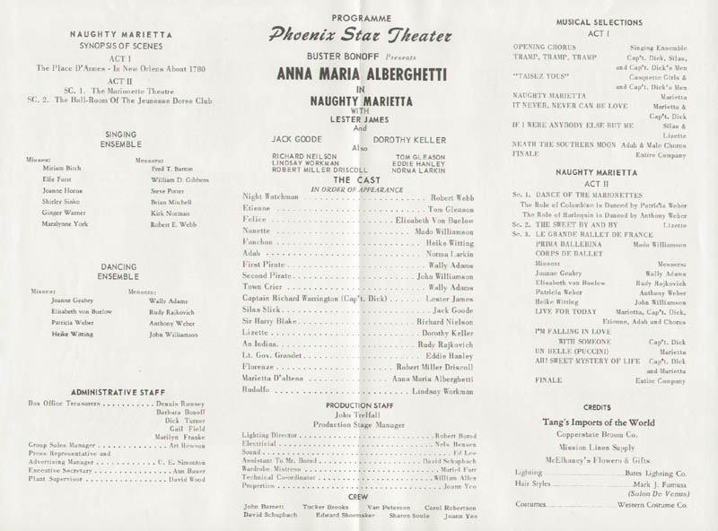 Image 3 for Anna Maria Alberghetti - Program Signed - HFSID 254272