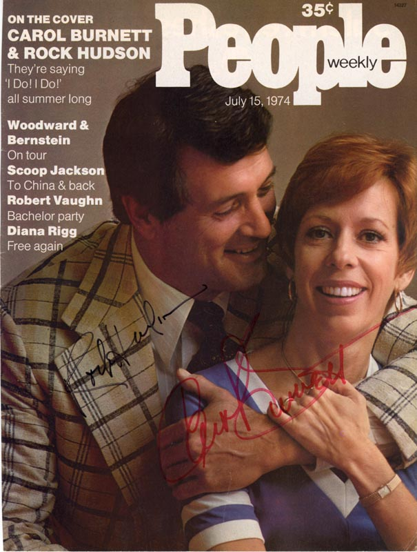 Image 1 for Rock Hudson - Magazine Cover Signed co-signed by: Carol Burnett - HFSID 254336