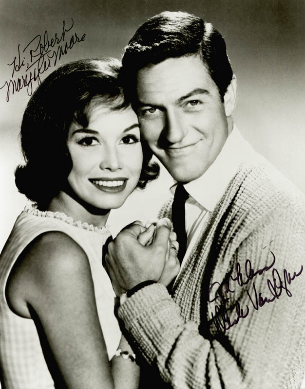 Image 1 for The Dick Van Dyke TV Cast - Autographed Inscribed Photograph co-signed by: Dick Van Dyke, Mary Tyler Moore - HFSID 254360