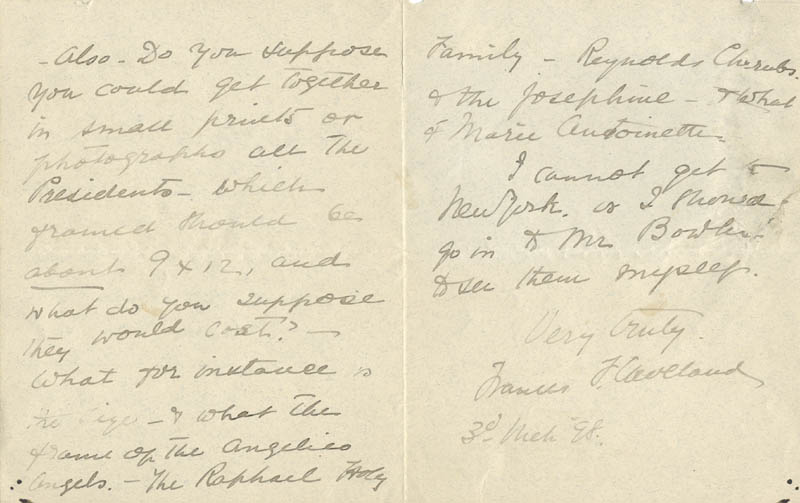Image 1 for First Lady Frances F. Cleveland - Autograph Letter Signed 03/03/1898 - HFSID 254441
