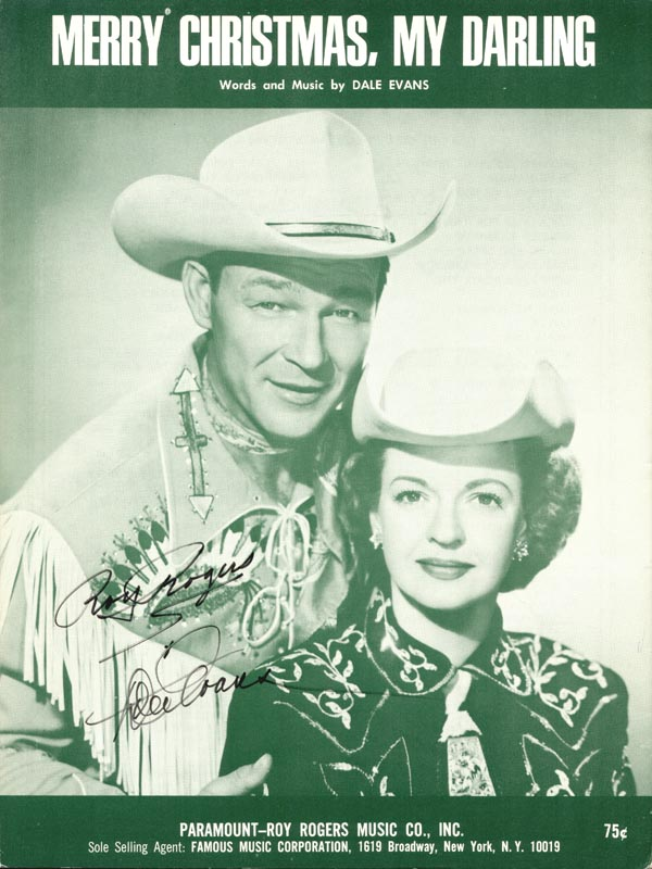Image 1 for Roy Rogers - Sheet Music Signed co-signed by: Dale Evans - HFSID 254460